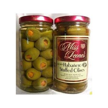 Habanero Stuffed Gourmet Queen Spanish Olives 12 oz. Jar