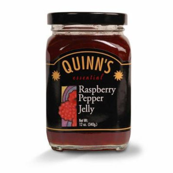 Gourmet Raspberry Pepper Jelly - Raspberries, Red Bell Peppers & Jalapeños - by Quinn's (Pack of 3)