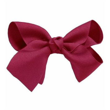 Wine Beautiful Girls Large Hair Bow Hair Clip