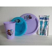 Disney Frozen Ana Elsa Olof Mealtime Set Zak (7 Pieces) BPA Free Plate, Bowl, Cup, 2 Forks, 2 Spoons Gift Set