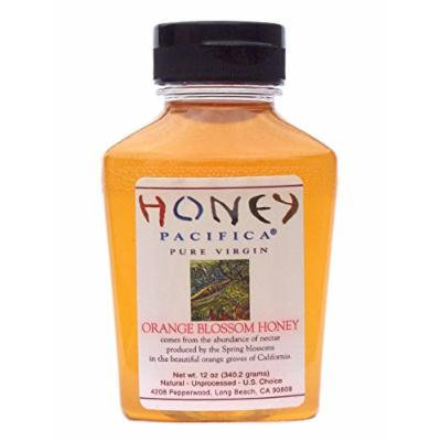Honey Pacifica Orange Blossom Honey, 12 oz. Squeeze Jar, Unfiltered, Unprocessed Honey Direct From a California Beekeeper