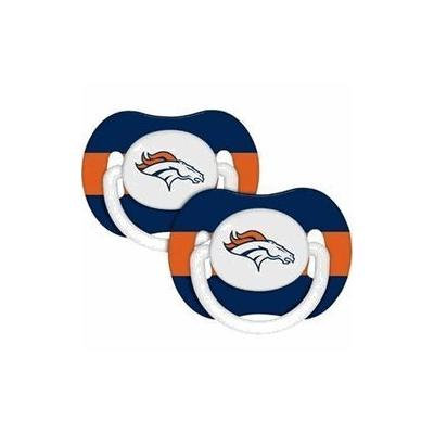 Denver Broncos Pacifiers 2 Pack Safe BPA Free