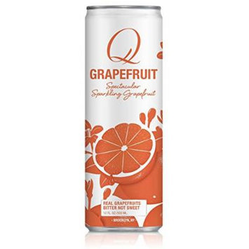 Q Drinks, Q Grapefruit, Sparkling Grapefruit Soda, 12 Ounce Slim Can (Pack of 12)