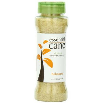 Essential Cane Habanero Flavored Cane Sugar, 5-Ounce Jars (Pack of 3)
