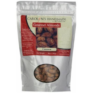Carolyn's Handmade Gourmet Platinum Snack Bag, Cinnamon Almonds, 8 Ounce