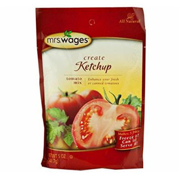 Mrs. Wages Ketchup Tomato Seasoning Mix, 5 Oz. Pouch (Pack of 2)