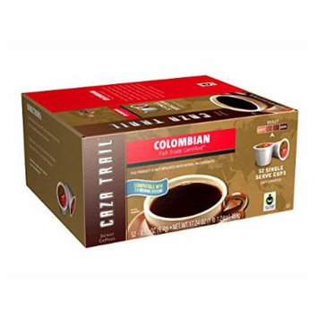 Caza Trail Coffee, Colombian, 52 Single Serve Cups