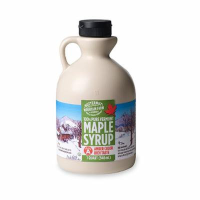Butternut Mountain Farm Vermont Pure Maple Syrup, Grade A Amber Rich, 1-Quart Jug
