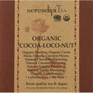SerendipiTea Organic Tea Cocoa-loco-nut, 20 Count (Pack of 8)