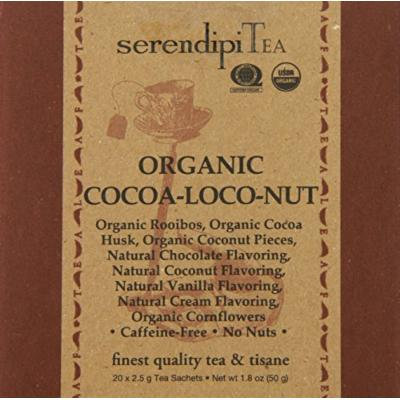 SerendipiTea Organic Tea Cocoa-loco-nut, 20 Count (Pack of 8)