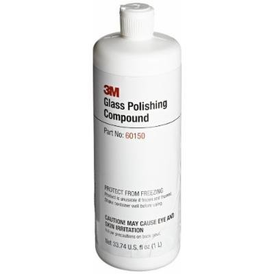 3M Glass Polishing Compound 60150, 1L Capacity, White (Pack of 1)