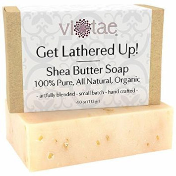 Organic SHEA BUTTER Soap - by Vi-Tae® - 100% Pure, All Natural, Aromatherapy LUXURY Herbal Bar Soap - 4oz