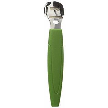FitDio Pedicure Pro Callus Scraper Remover, Green, 2 Count