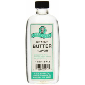 Chef-O-Van Imitation Natural-Flavoring-Extract, Butter Flavor, 4 Ounce