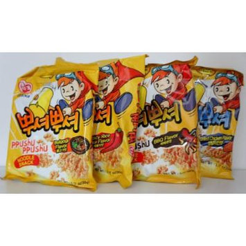 Korean Ppushu Ppushu Smash Noodle Variety Combo Snack Pack Set