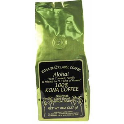 Black Label 100% Kona Dark Roast Whole Bean
