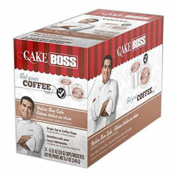 Cake Boss Coffee, Italian Rum Cake, 24 Count