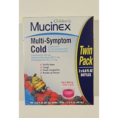 Mucinex Children's Multi-symptom Cold Liquid, Very Berry, 6.8 Ounce, 2 Pack