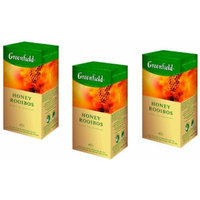 Greenfield Tea, Honey Rooibos, 25 Count Teabags (Pack of 3)