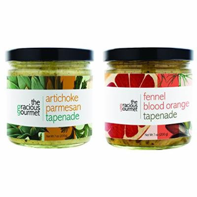 The Gracious Gourmet Tapenade Duo, Fennel Blood Orange and Artichoke Parmesan , 14-Ounce