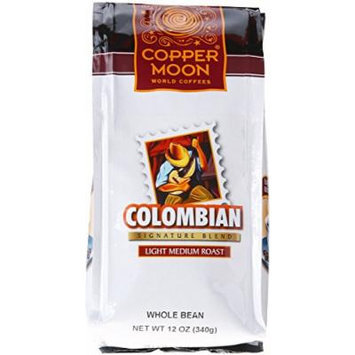 Copper Moon Colombian Coffee, Whole Bean, 12-Ounce Bags (Pack of 3)