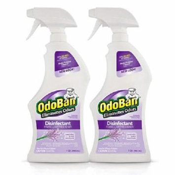 OdoBan Odor Eliminator and Disinfectant Ready-to-Use, Lavender Scent (32 Ounces, 2 Pack)