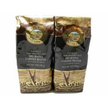 Royal Kona Coffee Vanilla Macadamia Nut - Value Twin Pack (All Purpose Grind) - 14 oz