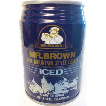 Mr. Brown Iced Coffee, Blue Mountain Style, 8.12-Ounce (Pack of 24)