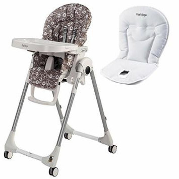 Peg Perego USA Prima Pappa Zero 3 High Chair w Peg Perego Baby Cushion White (Pavillon Taupe)
