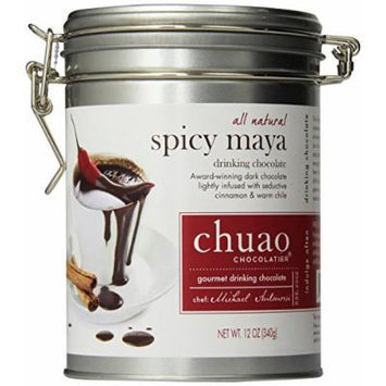 Chuao Gourmet Drinking Chocolate 12 Oz. Tin Can (Spicy Maya)