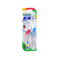G-u-m Folding Travel Toothbrush, Soft, Assorted 2 Each