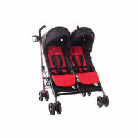 Babies R Us Zobo 2x Side By Side Stroller, Cherry