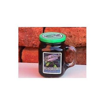 Blackburn's Preserves & Jellys 18oz Jar (Packed in a Glass Reusable Handled Mug) (Blackberry Jelly)