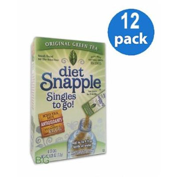 Diet SNAPPLE GREEN TEA Soft Drink Mix 6 Sticks In Each Box (12 Pack) GL