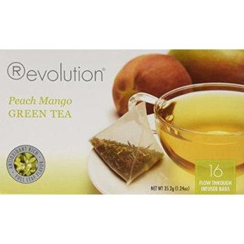 Revolution - Peach Mango Green Tea - 16 Bag (1 Pack)