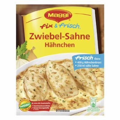 MAGGI fix & fresh chicken with onion sauce (Zwiebel-Sahne Hähnchen) (Pack of 4)