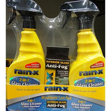 Rain-X 2 in 1; 2- 23 FL OZ Glass Cleaner+Rain Repellent with 3.5 FL OZ Anti-Fog