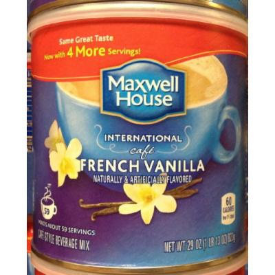 Maxwell House International Cafe FRENCH VANILLA 29oz. (10 Pack)