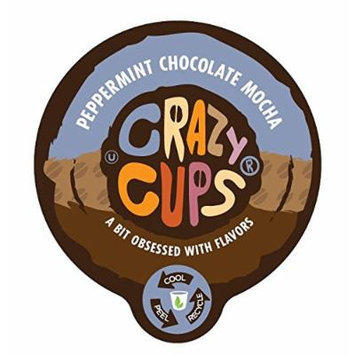 Crazy Cups Peppermint chocolate Mocha Flavored Coffee Single Serve Cups (88 count)