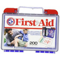 Be Smart Get Prepared 200 Piece First Aid Kit In Durable Plastic Case, 1.4 Pound
