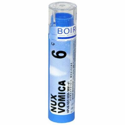 Boiron Homeopathic Medicine Nux Vomica, 6C Pellets, 80-Count Tubes (Pack of 5)