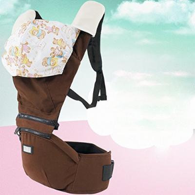 Beddinginn® Chocolate Color Super Comfortable Cotton Baby Carrier with Hood and Baby Hip Seat