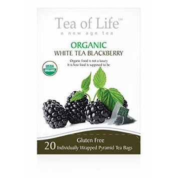 Tea Of Life Organic White Tea, Blackberry, 20 Count