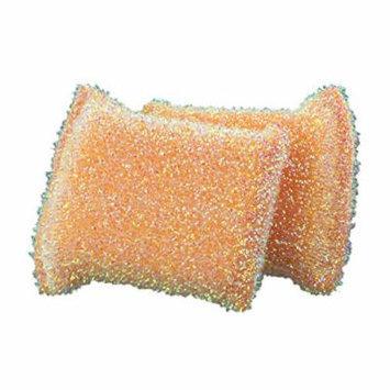 Casabella 2pk Sparkle Non-Stick Safe Scrub Sponge (Orange)