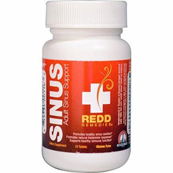 Redd Remedies Adult Sinus Support - Lowers Chance For Sinus Headache - Promotes Healthy Sinuses - Supports Healthy Immune Function - 10 Tablets