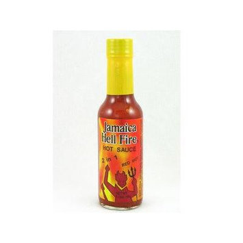 Jamaica Hell Fire 2 in 1 Hot Sauce 5.15oz (Pack of 3)