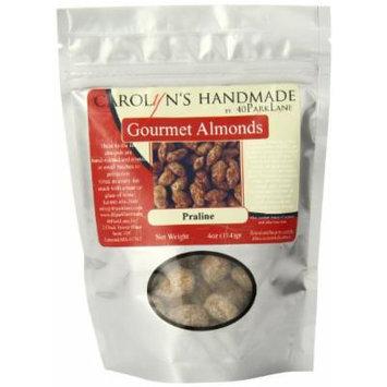 Carolyn's Handmade Gourmet Platinum Snack Bag, Praline Almonds, 4 Ounce