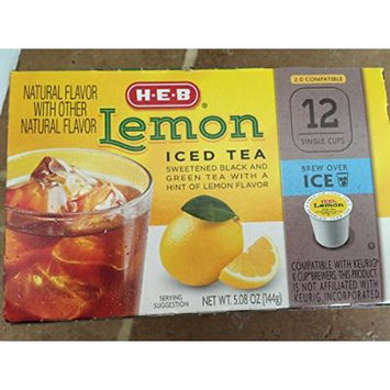 HEB Lemon Iced Tea 12 single cup (servings)