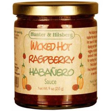 Hunter & Hilsberg Wicked Hot Habanero Sauce, Raspberry, 9 Ounce