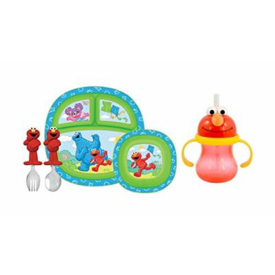 Munchkin Sesame Street Toddler Dining Set with Character Cup, Red